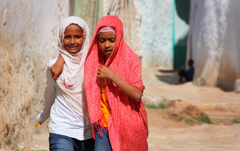 barn ethiopia royaltyfri fotografi