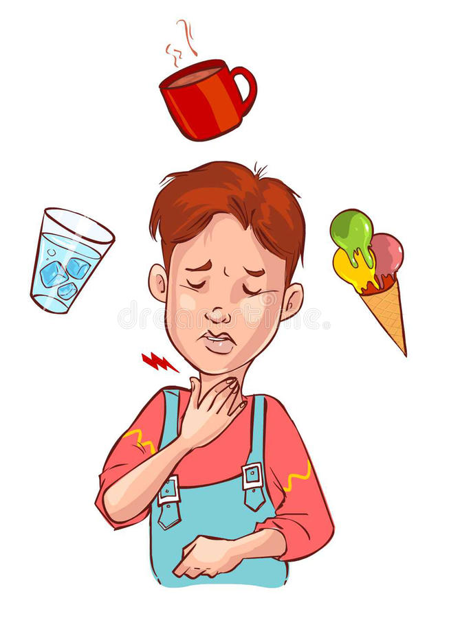 Barn för öm hals vektor illustrationer