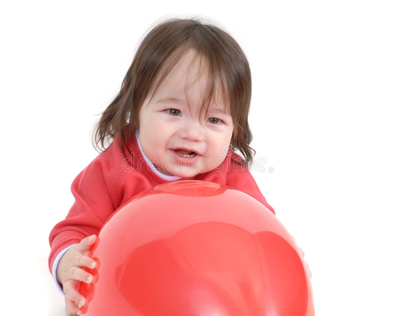 barn för 3 ballonger royaltyfria foton