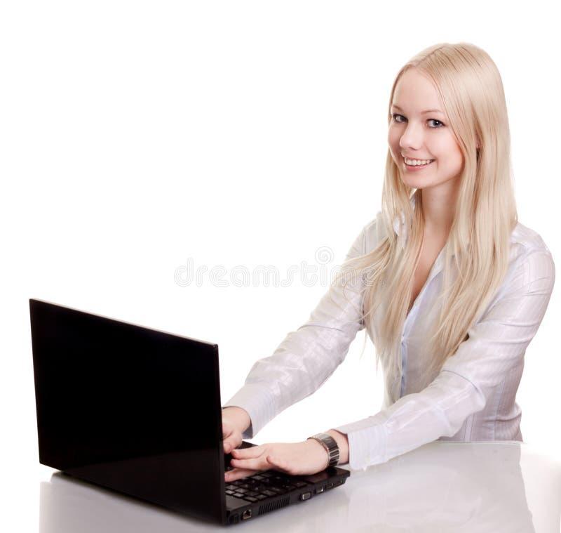 barn för affärskvinnabärbar datordeltagare arkivbilder
