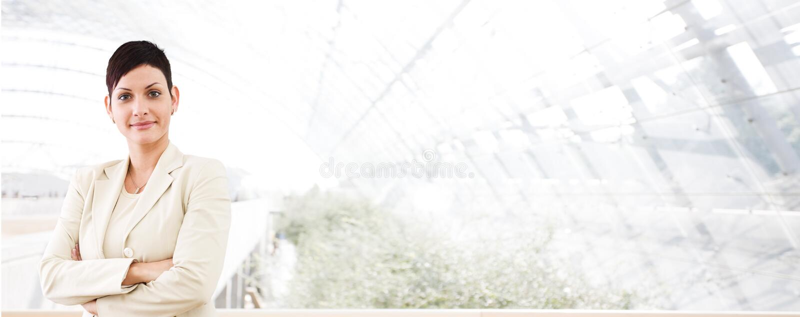 barn för baneraffärsaffärskvinna fotografering för bildbyråer