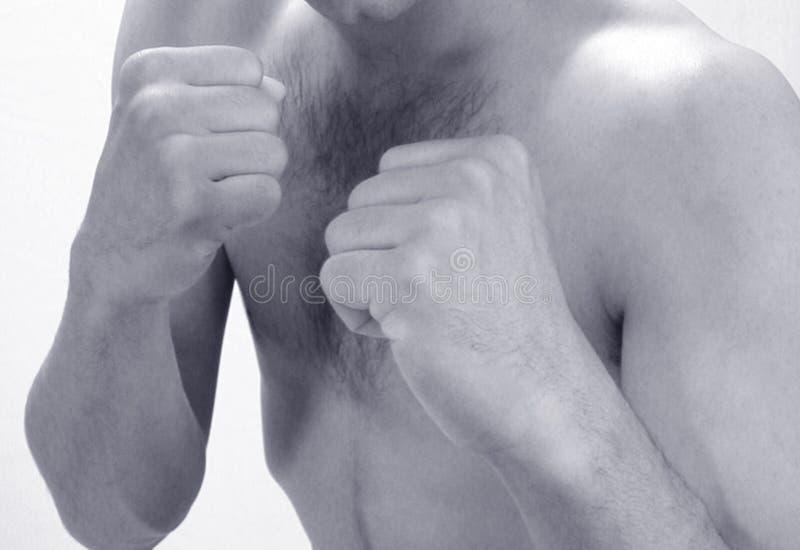 barn för boxningmanskugga royaltyfri foto