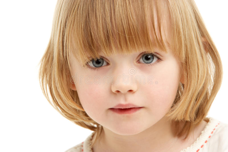 barn för flickaståendestudio royaltyfri fotografi