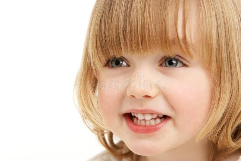 barn för flickaståendestudio royaltyfria foton