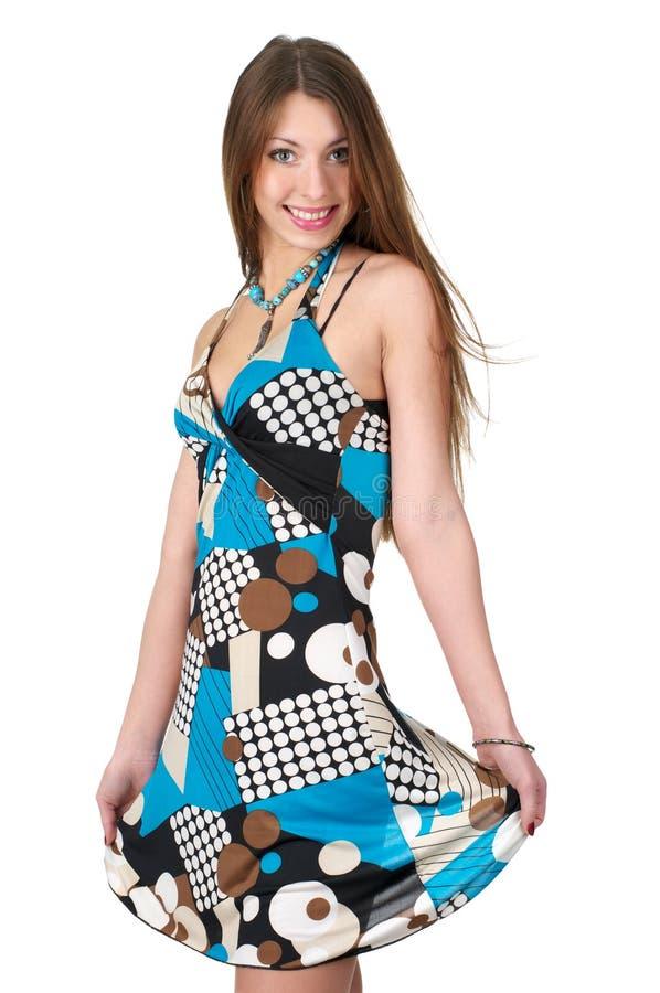 barn för klänningsommarkvinna arkivbild