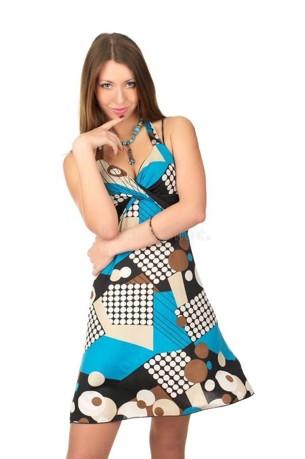 barn för klänningsommarkvinna arkivfoto
