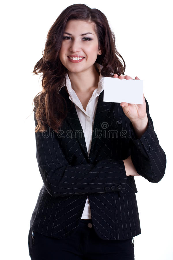 barn för kvinna för affärskort royaltyfria bilder