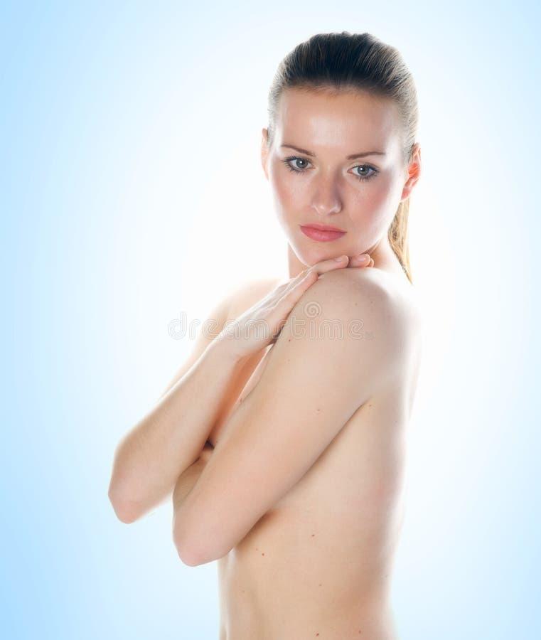barn för kvinna för skönhethud slappt royaltyfri fotografi