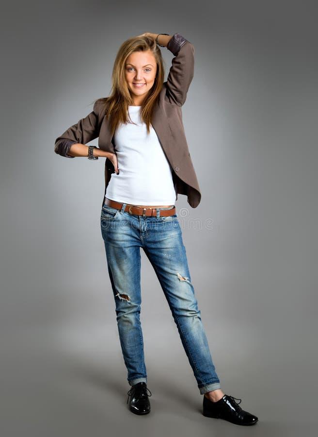 barn för kvinna för stående för affärscloseup lyckligt royaltyfri fotografi
