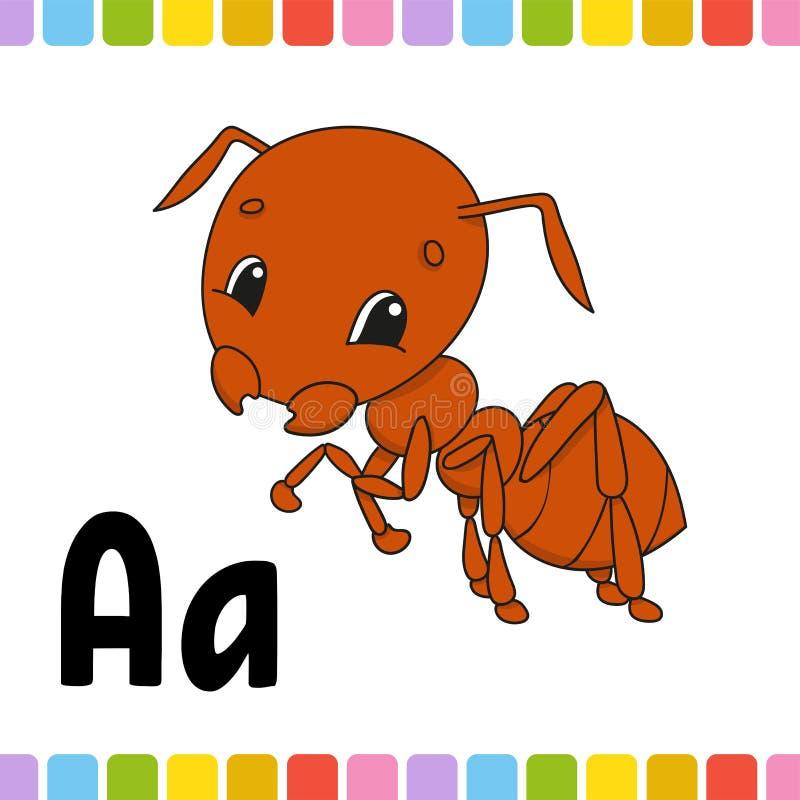 barn för myrakonstbrown fäster den din vektorn för designillustration ihop s för bakgrundsbilder för alfabet djur white för vekto stock illustrationer