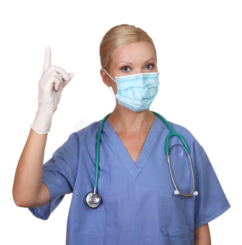 barn för sjuksköterska för maskering för framsidakvinnligbild slitage arkivfoto