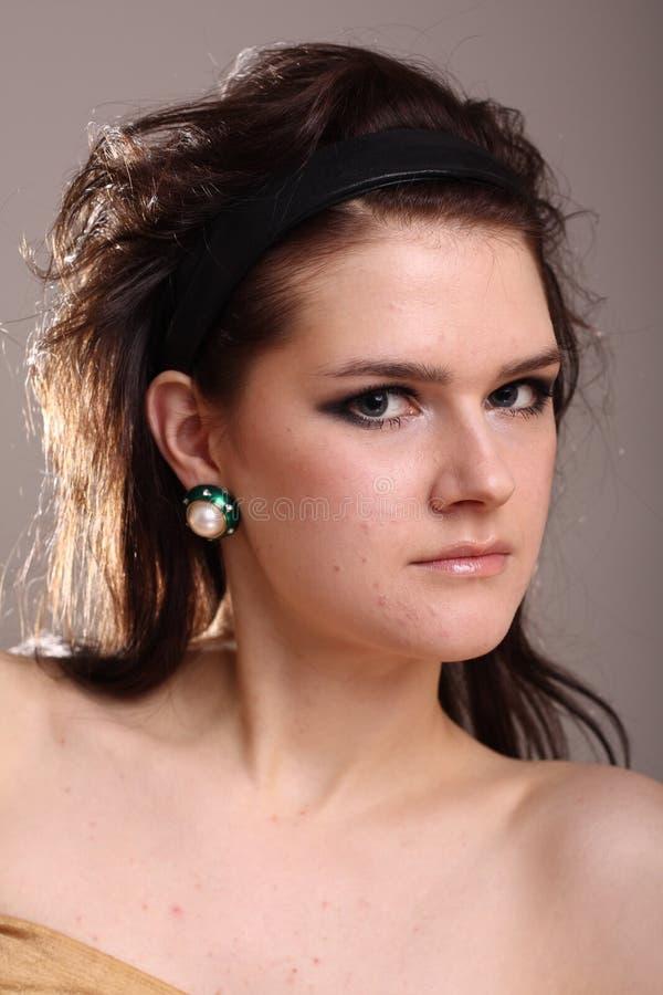 barn för stående för modemodell fotografering för bildbyråer