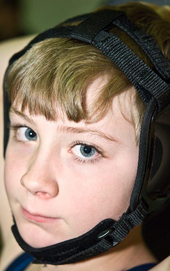 barn för utrustningsäkerhetsbrottare royaltyfri foto