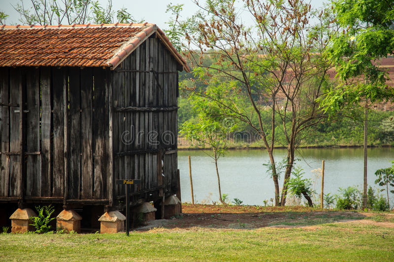 Barn farm old rural. Rustic wood architecture stock photos