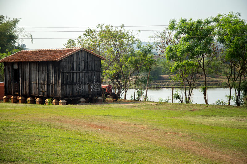 Barn farm old rural. Rustic wood architecture royalty free stock images