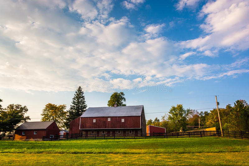 Barn on a farm in rural Adams County, Pennsylvania. royalty free stock photos
