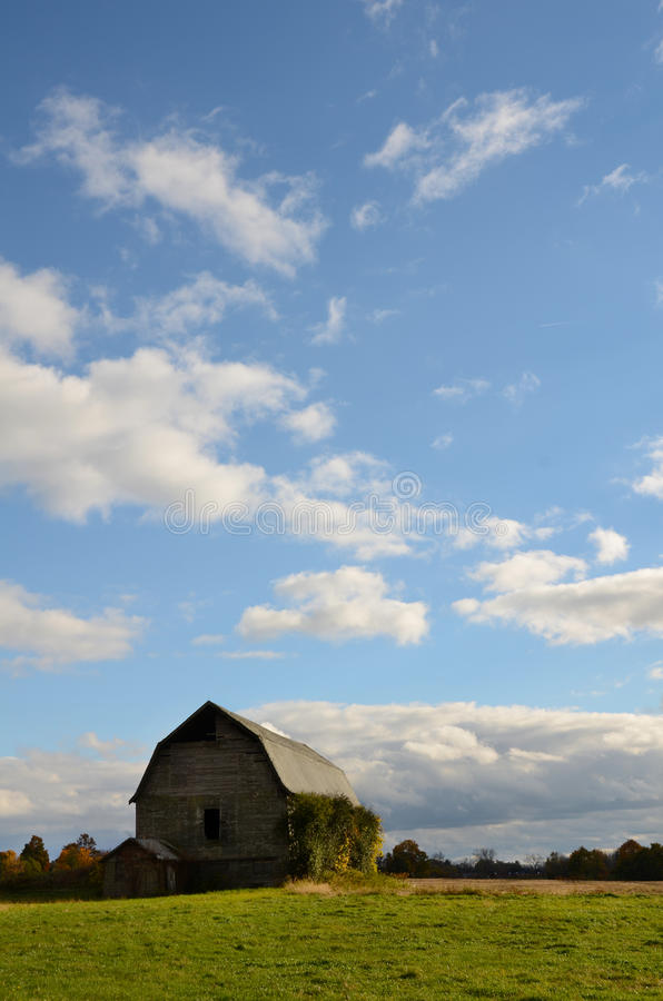 Barn in the Finger Lakes country in Autumn stock images