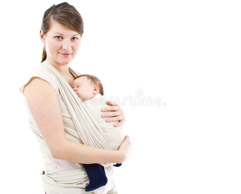 Bära en behandla som ett barn royaltyfria foton