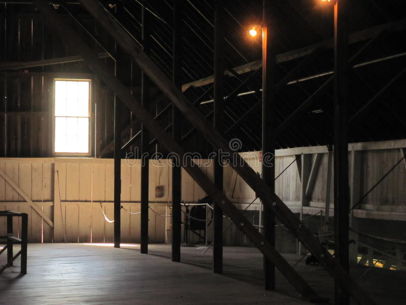 Barn hayloft royalty free stock photo