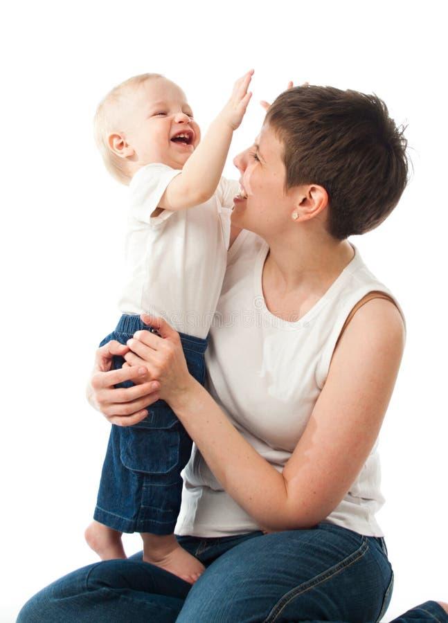 barn henne moderbarn fotografering för bildbyråer