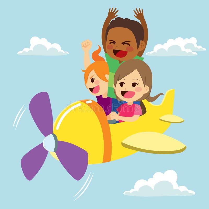Barn hyvlar gyckel stock illustrationer