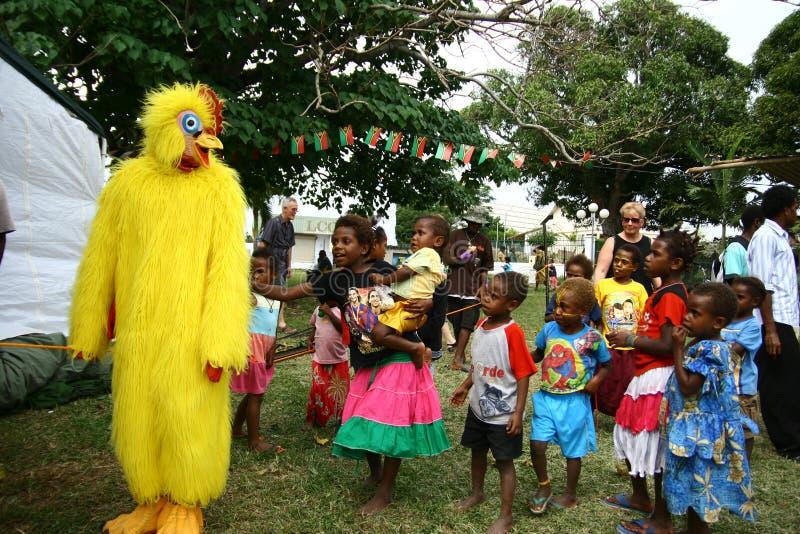 Barn i vanuatiskt arkivbilder