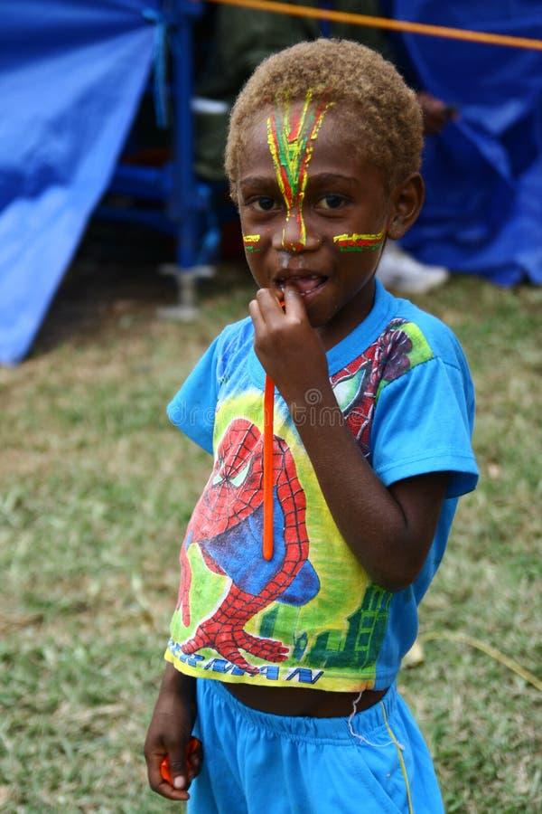 Barn i vanuatiskt royaltyfria bilder