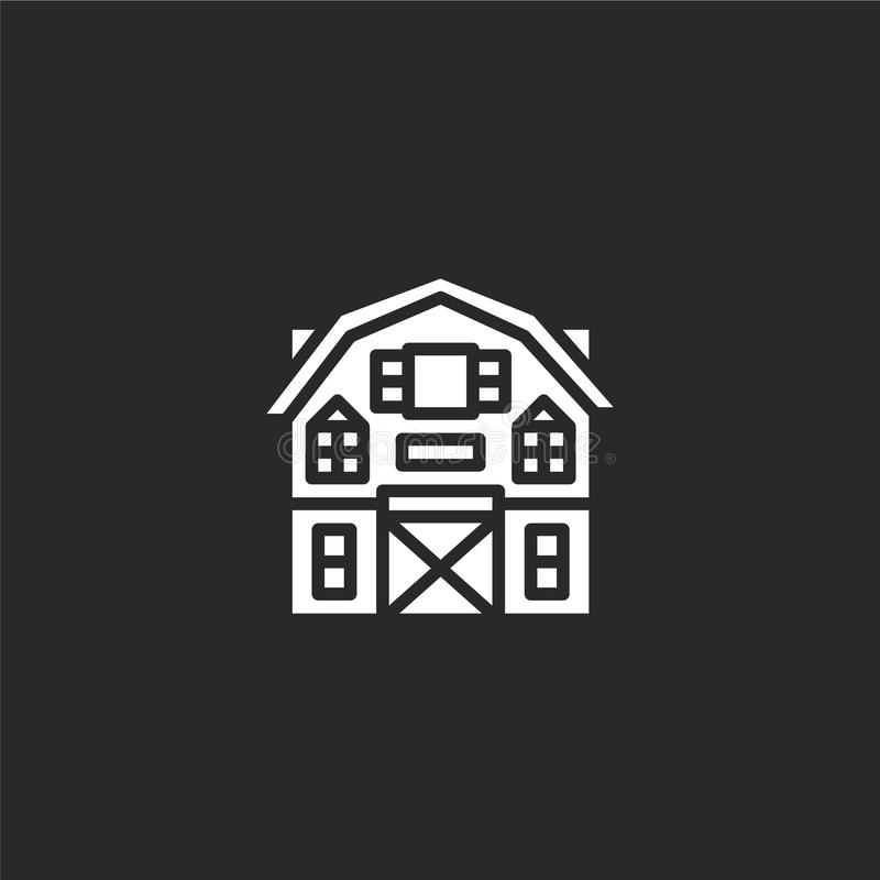 barn icon. Filled barn icon for website design and mobile, app development. barn icon from filled autumn collection isolated on stock illustration