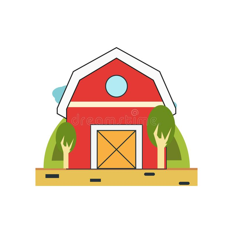Barn icon vector sign and symbol isolated on white background, Barn logo concept stock illustration