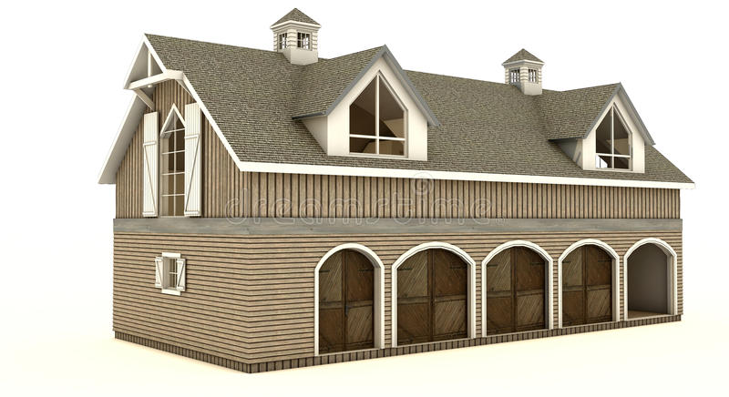 Barn isolated. An image of a country style barn stock illustration