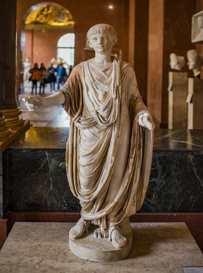 Barn-kejsare Neron från 54 till ANNONS 68 ANNONS omkring 50 luftventil arkivfoto
