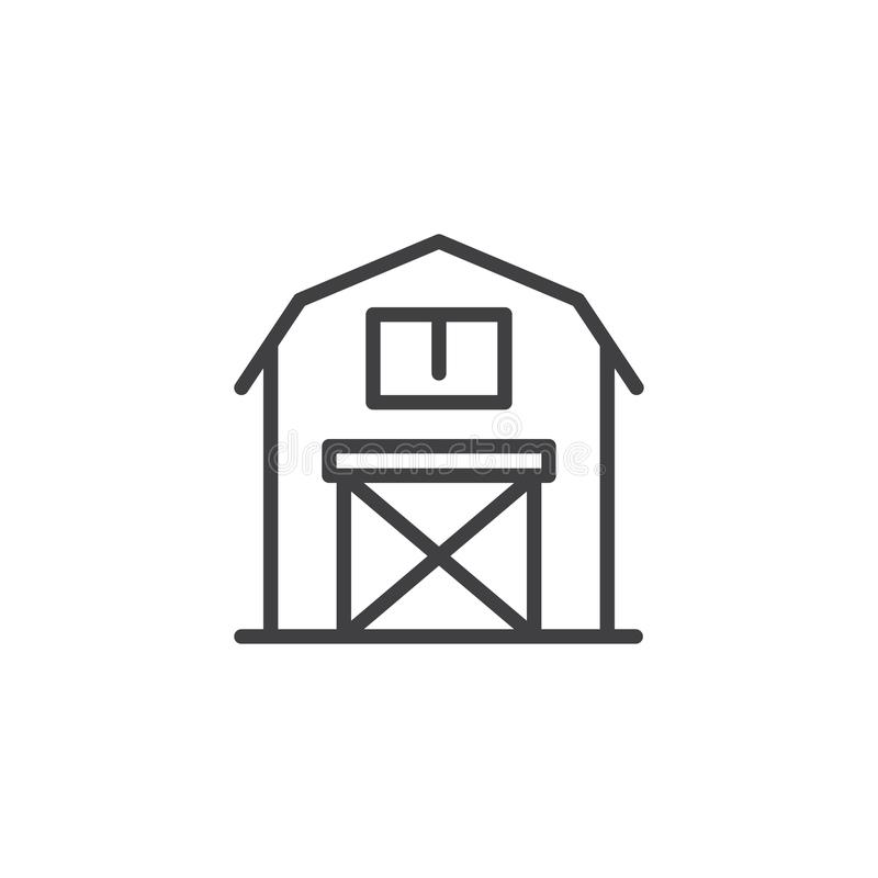 Barn line icon royalty free illustration
