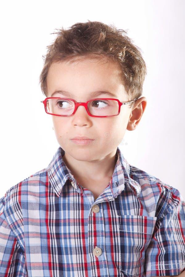 Barn med exponeringsglas royaltyfria foton