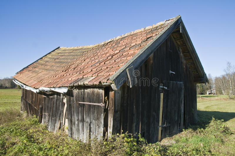 Download Barn in the moss stock image. Image of roofing, wooden - 11941335