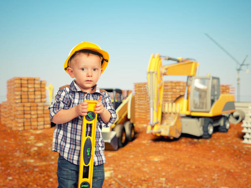 Barn- och konstruktionsplats arkivbild
