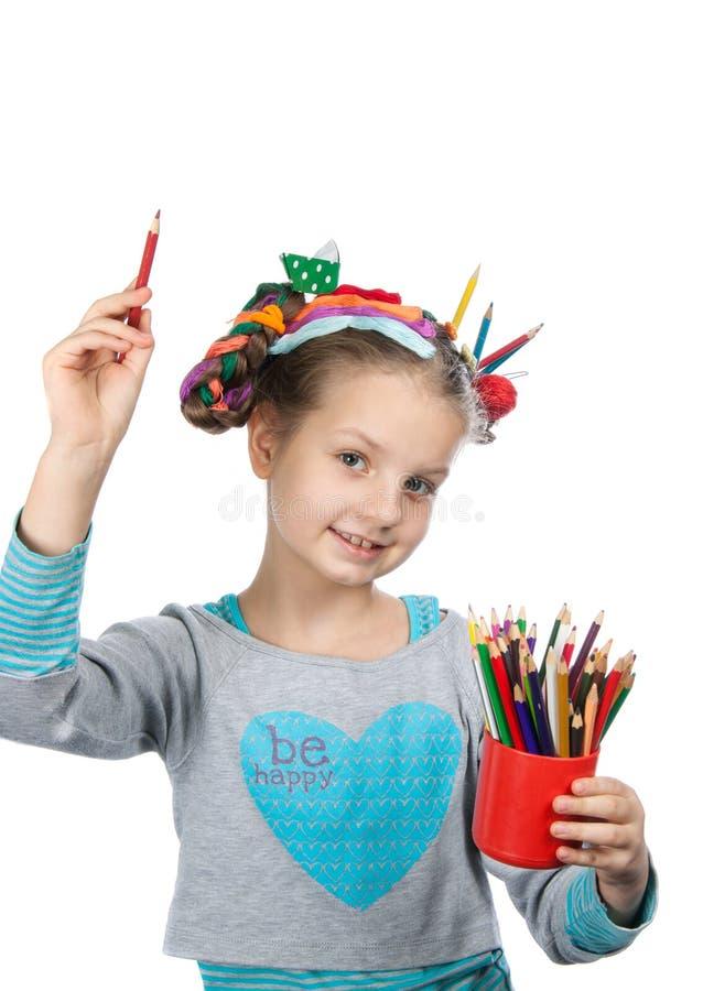 Barn och kreativitet, utveckling royaltyfri foto