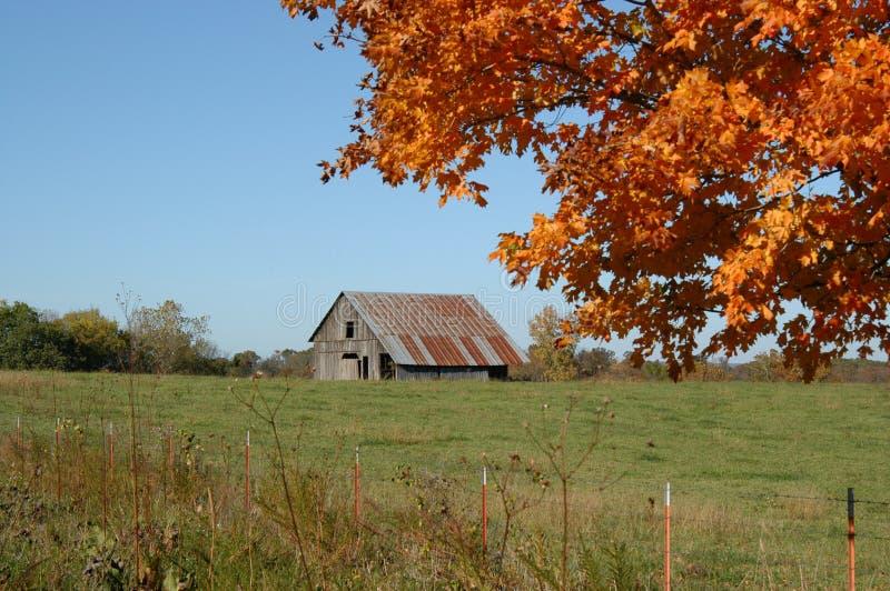 Download Barn Between Orange And Green Stock Image - Image: 2307251