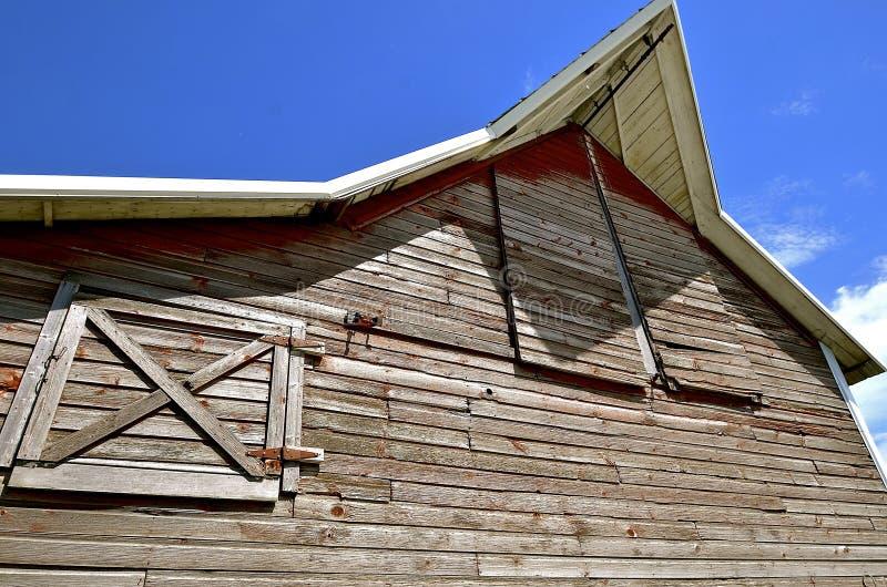 Barn Overhang And Hay Loft Doors Stock Image Image Of Peeling