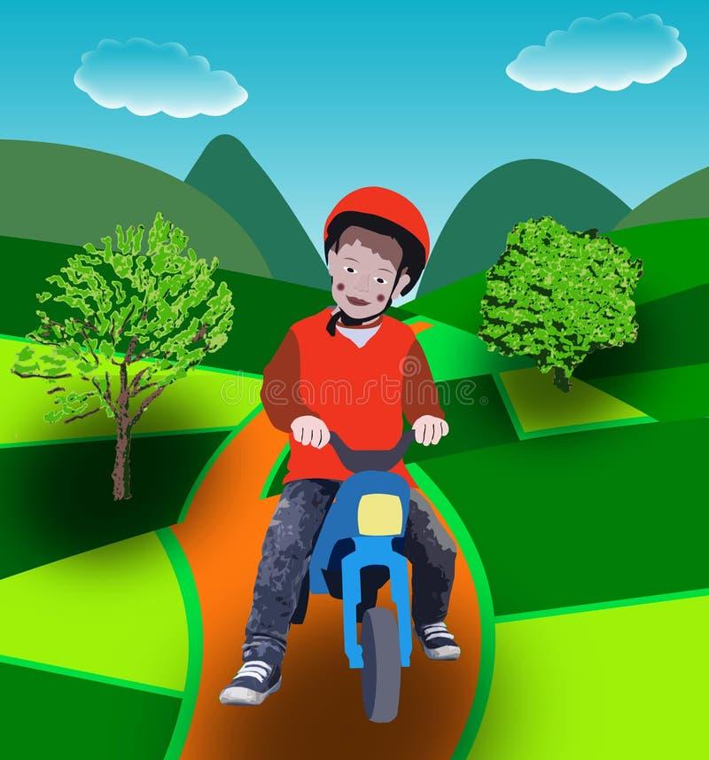 Barn på cykeln royaltyfri foto