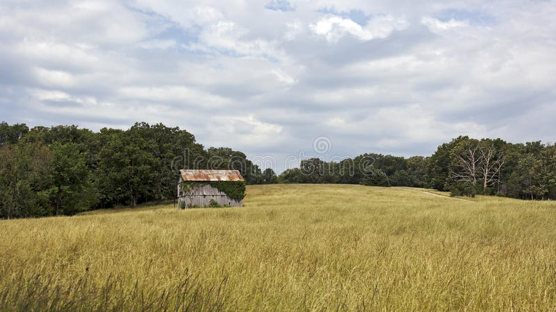 Barn and pasture royalty free stock image