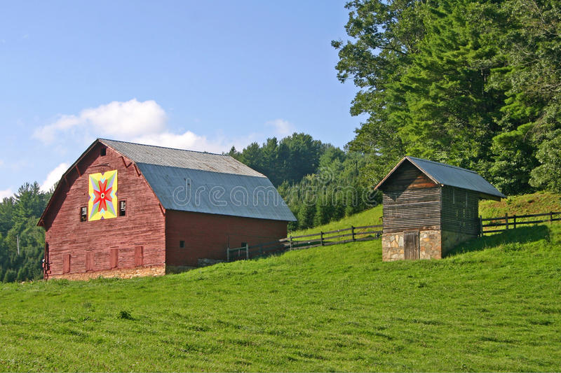 Barn with Quilt Block stock photography