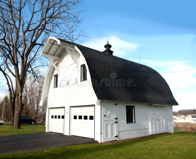 Barn Shaped Garage Royalty Free Stock Photography Image