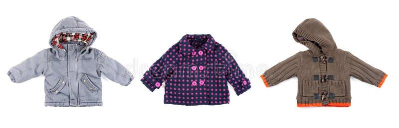 barn som clothing varm collage s fotografering för bildbyråer