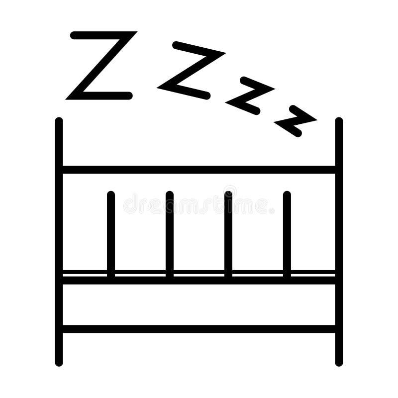 Barn som sover symbolsvektorn royaltyfri illustrationer