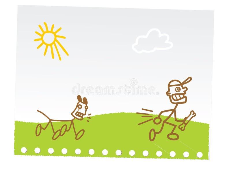 barn som tecknar den roliga handen vektor illustrationer