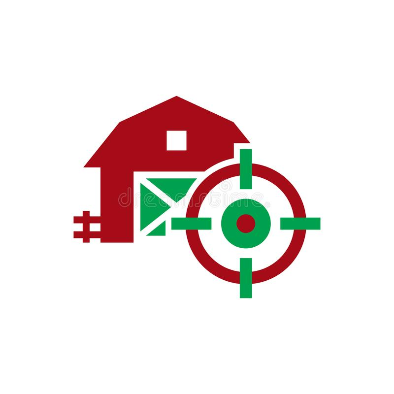 Barn Target Logo Icon Design. This design can be used as a logo, icon or as a complement to a design stock illustration