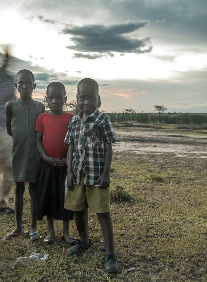 barn tre royaltyfri bild