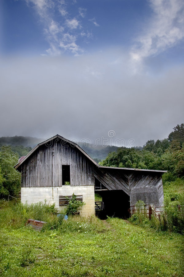 Barn in valley royalty free stock image