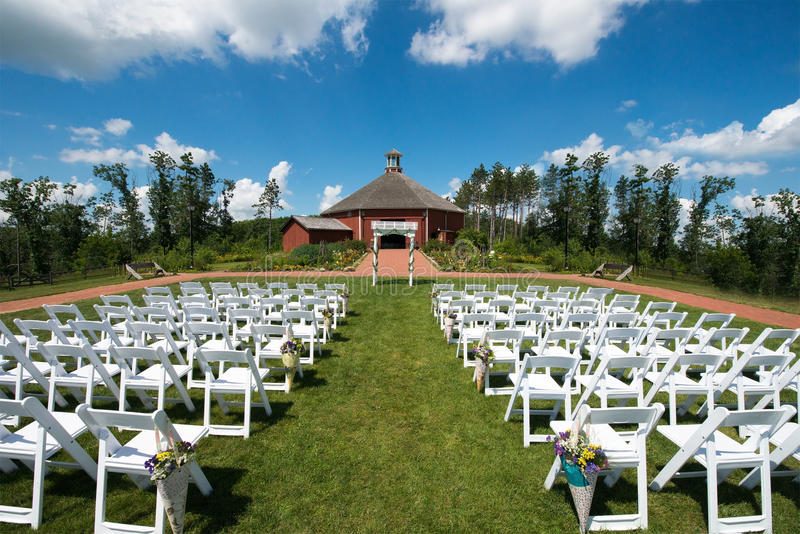 Barn Wedding and Reception on Farm stock photos