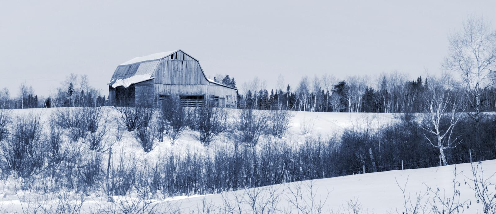 Download Barn in winter stock image. Image of frost, wood, landscape - 22982693